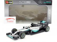 Lewis Hamilton Mercedes F1 W07 Hybrid #44 formule 1 2016 1:18 Bburago
