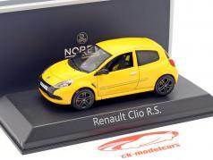Renault Clio R. S. année de construction 2009 Sirius jaune 1:43 Norev