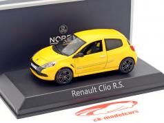 Renault Clio R. S. Opførselsår 2009 Sirius gul 1:43 Norev