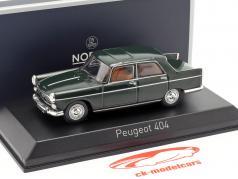 Peugeot 404 año de construcción 1965 antiguo verde 1:43 Norev