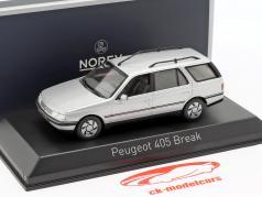 Peugeot 405 Break année de construction 1991 quartz gris 1:43 Norev