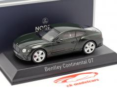 Bentley Continental GT ano de construção 2018 corrida verde 1:43 Norev