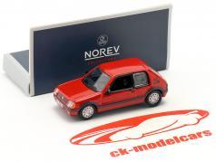 Peugeot 205 GTI 1.9 建造年份 1987 红 1:87 Norev