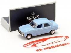 Peugeot 204 año de construcción 1966 azul 1:87 Norev