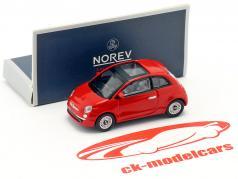 Fiat 500i anno di costruzione 2007 rosso 1:87 Norev
