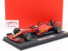Sebastian Vettel Ferrari SF90 #5 cuarto australiano GP F1 2019 con escaparate 1:18 BBR