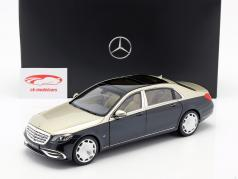 Mercedes-Benz Maybach S650 (X222) aragonite silver / anthracite blue metallic 1:18 Norev