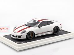 Porsche 911 (991) R Type Bouwjaar 2016 met vitrine rood / wit 1:12 Spark / 2. verkiezing