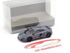 McLaren 675LT coupe chicane cinza 1:87 Minichamps