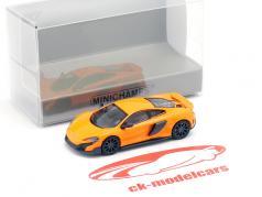 McLaren 675LT coupe laranja 1:87 Minichamps