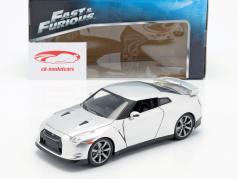 Brian's Nissan GT-R (R35) Fast and Furious zilverwerk 1:24 Jada Toys