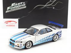 2 Fast 2 Furious Brian's Nissan Skyline GT-R (R34) Baujahr 1999 1:18 Greenlight