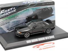 Nissan Skyline GT-R (R32) Fast and Furious 7 2015 preto 1:43 Greenlight