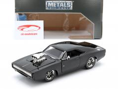 Dodge Charger R/T År 1970 Fast and Furious 7 2015 sort 1:24 Jada Toys