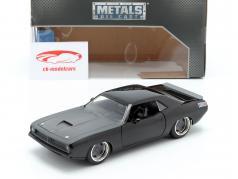 Letty´s Plymouth Barracuda de o filme Fast and Furious 7 preto 1:24 Jada Toys