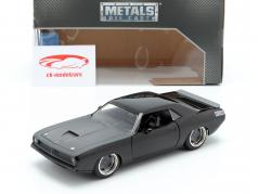 Letty´s Plymouth Barracuda van de film Fast and Furious 7 zwart 1:24 Jada Toys