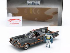 Batmobile con Batman e Robin cifra Classic TV-Serie 1966 1:24 Jada Toys