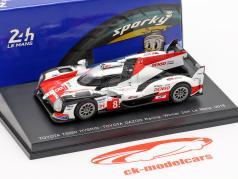 Toyota TS050 Hybrid #8 Vinder 24h LeMans 2018 Buemi, Nakajima, Alonso 1:64 Spark / 2. valg
