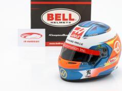 Romain Grosjean Haas VF-19 #8 fórmula 1 2019 capacete 1:2 Bell