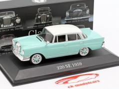 Mercedes-Benz 220 SE Heckflosse (W111) 1959 turkoois 1:43 Premium Collectibles