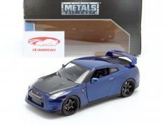 Nissan GT-R (R35) Año 2009 Fast and Furious 7 2015 azul oscuro 1:24 Jada Toys