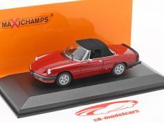 Alfa Romeo Spider ano de construção 1983 vermelho 1:43 Minichamps