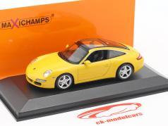 Porsche 911 (997) Targa Baujahr 2006 gelb 1:43 Minichamps