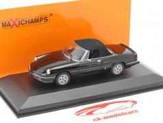 Alfa Romeo Spider Bouwjaar 1983 zwart 1:43 Minichamps