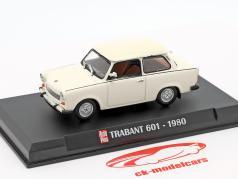 Trabant 601 Opførselsår 1980 hvid 1:43 Hachette