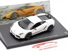 Lamborghini Gallardo LP570-4 Superleggera Année de construction 2010 blanc 1:43 Leo Models