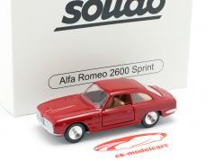 Alfa Romeo 2600 Sprint Bouwjaar 1966 rood metalen 1:43 Solido