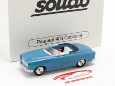 Peugeot 403 cabriolé año de construcción 1959 azul 1:43 Solido