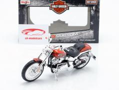 Harley Davidson CVO Breakout year 2014 orange metallic 1:12 Maisto