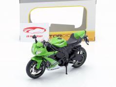 Kawasaki Ninja ZX-10R Bouwjaar 2010 groen / wit / zwart 1:12 Maisto
