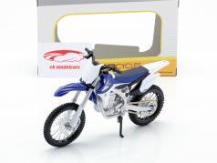 Yamaha YZ450F azul / blanco / negro 1:12 Maisto