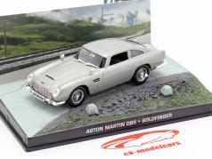 Aston Martin DB5 James Bond movie Goldfinger Car Silver 1:43 Ixo