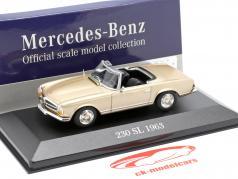 Mercedes-Benz 230 SL (W113) año de construcción 1963 oro 1:43 Atlas