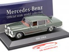 Mercedes-Benz 600 (W100) année de construction 1964 olive métallique 1:43 Atlas