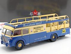 Fiat 642 RN2 Bartoletti Maserati race vrachtwagen 1957 blauw / geel 1:18 CMR