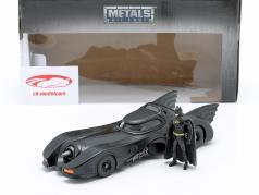 Batmobile com Batman figura filme Batman 1989 1:24 Jada Toys