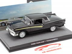 Ford Fairlane Car James Bond filme Thunderball preto 1:43 Ixo