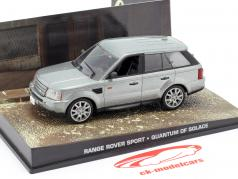 Range Rover Sport Car filme de James Bond Quantum of Solace prata 1:43 Ixo