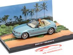 BMW Z3 film de James Bond Goldeneye voiture bleu clair métallisé 1:43 Ixo
