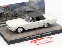 Ford Thunderbird Car James Bond movie Goldfinger white 1:43 Ixo