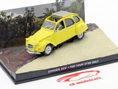 Citroen 2CV James Bond Movie Car For Your Eyes yellow 1:43 Ixo