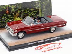 Chevrolet Impala James film di James Bond Live and Let Die scuro 1:43 Ixo