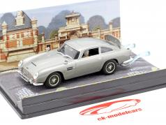 Aston Martin DB5 de James Bond coche película bola de fuego de color gris uno y cuarenta y tres Ixo