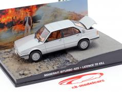 Maserati Biturbo 425 James Bond Movie Car License to Kill sølv 1:43 Ixo