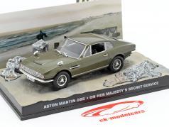 Aston Martin DBS di James Bond Car film Segreto di Sua Maestà 1:43 Ixo