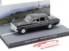 Toyota Crown película de James Bond Sólo se vive dos veces Car Negro 1:43 Ixo